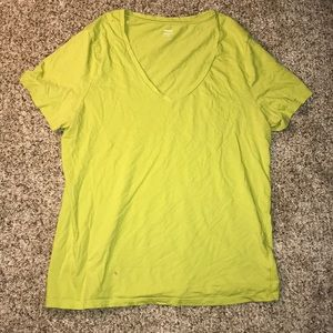 🔥Old Navy Green V-Neck Relaxed Top - L